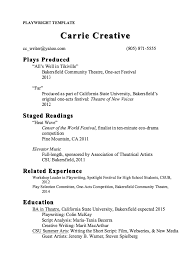 Playwright Resume Template Sample Http Resumesdesign Com