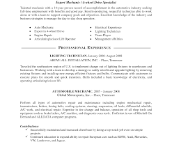 Mechanic Resume Remarkable Mechanic Resume Template Job Templates Auto Technician 34