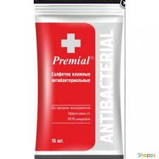 <b>Салфетки влажные</b> антибактериальные <b>PREMIAL</b> 1/15/48 ...