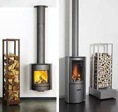 Modern Wood Burner Fireplace Designs Black Exclusive House Decorations Plans Contemporary Wood