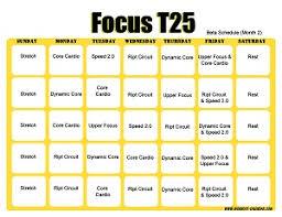 t25 workout calendar horizontal month 1 t25 workout calendar horizontal month 2