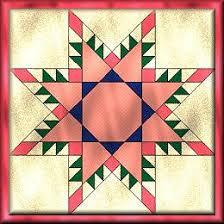 vir-radiant.jpg & Melon Radiant Star Quilt Adamdwight.com