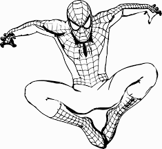 Spiderman crawls up a brick wall. Free Printable Spiderman Images To Color Of Your Favorite In 2021 Superhero Coloring Pages Superhero Coloring Spiderman Coloring