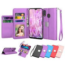 "Samsung Galaxy A20 A30 A205 <b>Wallet Case</b>, Galaxy A20 6.4"" <b>PU</b> ..."