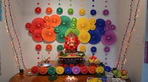 ganpati decoration from waste material 2