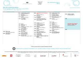 Milan Mens Fashion Week Schedule