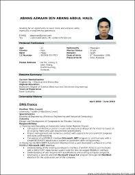 Format Cv Resume Curriculum Vitae Format For Job Of For Job