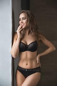 Brunette petal lingerie photos