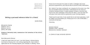 How To Write A Personal Reference Letter For Job Character