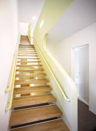 Mind Blowing Compact Staircase Decoration : Simple And Neat Compact Staircase  Design Ideas With Yellow Metal
