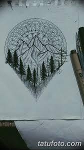 эскизы тату лес рисунки для татуировки с лесом значение и фото