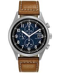 citizen watches macy s citizen men s eco drive chronograph brown leather strap watch 42mm ca0621 05l