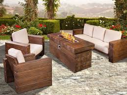 patio furniture with fire pit long
