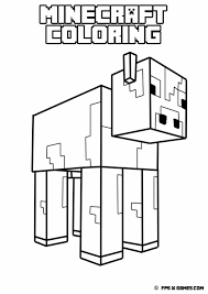 Printable Minecraft Coloring Pages For Kids Coloring Page Pedia