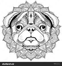 Small Picture Perfect Ideas Pug Coloring Pages Cute Dog Page Free Printable