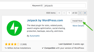Installing the Jetpack plugin