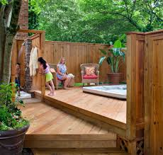 Outdoor Kitchens San Diego Outdoor Kitchen On Deck Archadeck Of Charlotte Hot Tub With A