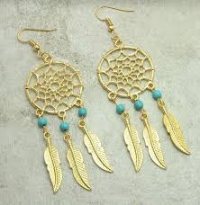 Dream Catcher Earing Vintage Dream Catcher Earrings The Enchanted Forest 63