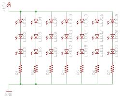 led light circuit diagram 12v led image wiring diagram resistors 20 3 2v 3 8v leds in a line on a 12v circuit on led