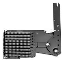 all kits contain one pair of spring lift mechanisms safety panels panel guards and a heavy duty steel tubular fold out legs