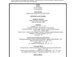 Surprising Resume For College Application 16 High School Resume
