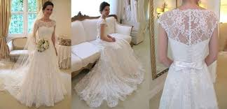 gorgeous white ivory lace wedding dress bridal gown custom size4 6