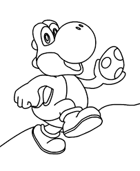 Small Picture Yoshi coloring pages with egg ColoringStar