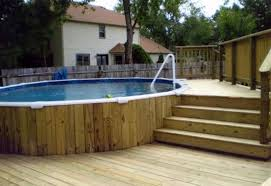 backyard deck design ideas. Beautiful Design Astonishing Backyard Deck Design Ideas With Round Mini Pool And Small  Landscaping Without Grass Exterior For
