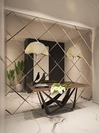 console mirror wall living room