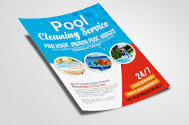 Pool Cleaning Service Flyers by Designhub TheHungryJPEGcom