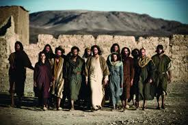 Image result for pictures of disciples following Jesus