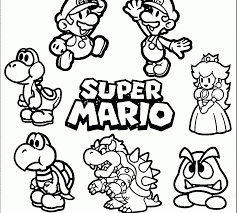 Super Mario Coloring Odyssey Pages Printable Free Books Bros