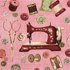 Vintage Sewing Machine Fabric
