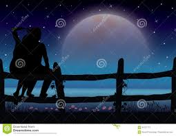 romantic moonlight beautiful vector ilrations