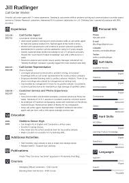 Sample Resume For A Call Center Agent Call Center Resume Sample And Complete Guide 20 Examples