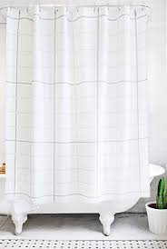 modern bathroom shower curtains. Delighful Shower Bathage Modern Grid Pattern Fabric Shower Curtain  Exclusive Waterproof  Antimicrobial No Liner Necessary With Bathroom Curtains R