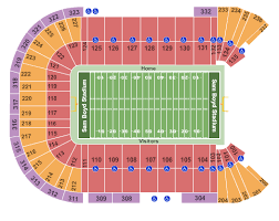 Sam Boyd Stadium Virtual Seating Chart Unlv Rebels Vs Hawaii Warriors Tickets Sat Nov 16 2019 1