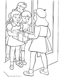 Small Picture Presents Coloring Page Cool Elsa Loves Presents Colouring Page