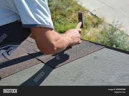 Roofer Installing Image Photo Free Trial Bigstock