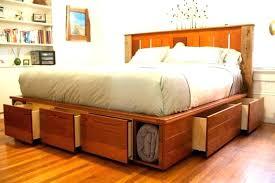 storage bed plans king size platform adorable diy floating