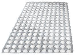 silver machine washable cotton bathroom rug merida contemporary bath mats by vita futura