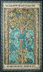 tree of life tapestry green william
