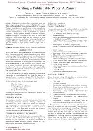 Research Paper Apa Sample Pdf Writing Publishable Paper Primer Le Research Format