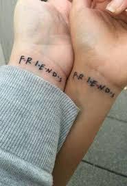 Matching Bestfriend Small Wrist Tattoo Ideas From Friends Tv Show