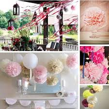 Party Decorations Tissue Paper Balls Paper Flower Balls Tissue Paper Pom Poms 100pcs 100inch Artificial 43