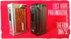 Designer Vape Lost Vape Therion Paranormal Dna75c Quick Looks And Theme Designer