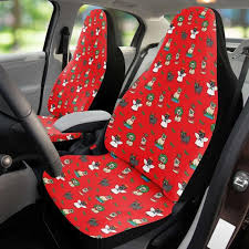 hc pugs car seat covers red