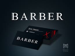 Barber Business Cards Design Barber Logo And Business Card Design By Mercury Spiders On