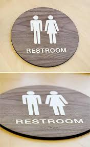 Bathroom Symbol Simple Stylish Wood Restroom Signs ADA Braille Wood Bathroom Signs