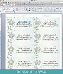 Word 2013 Label Template Watercolor Flowers Address Label Template